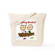 Camping Rocks Tote Bag