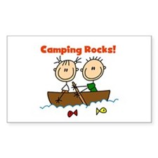 Camping Rocks Rectangle Sticker 10 pk)