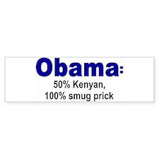 50% Kenyan Bumper Bumper Sticker