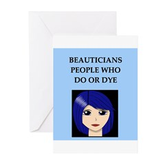 funny beautician beauty joke Greeting Cards (Pk of