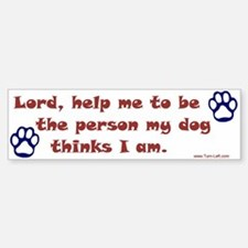 Dog Prayer Bumper Bumper Bumper Sticker