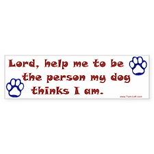 Dog Prayer Bumper Bumper Sticker