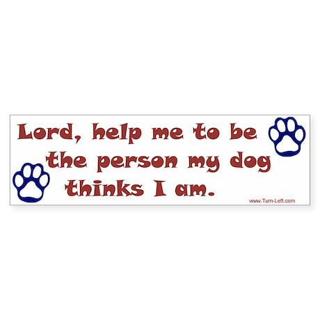 Dog Prayer Bumper Sticker