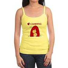 I Love Camping Jr.Spaghetti Strap