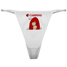 I Love Camping Classic Thong