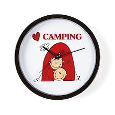 I Love Camping Wall Clock