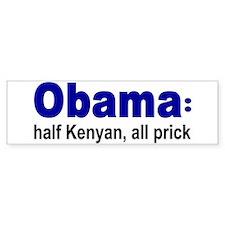 Half Kenyan Bumper Bumper Sticker