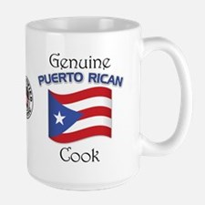 Genuine Puerto Rican Cook Large Mug