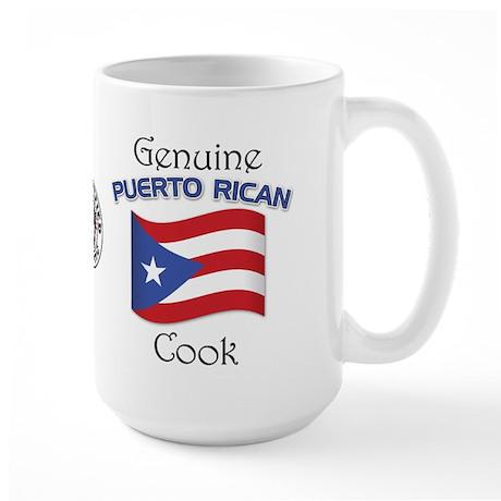 Genuine Puerto Rican Cook Large Mug