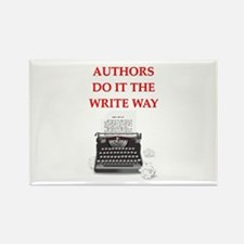 funny author writer pun Rectangle Magnet
