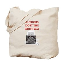 funny author writer pun Tote Bag