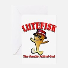 Lutefisk the dried codfish Greeting Card