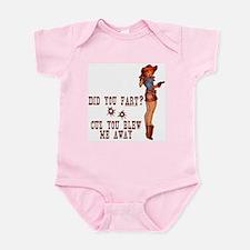 Redneck Did You Fart? Cowgirl Infant Bodysuit