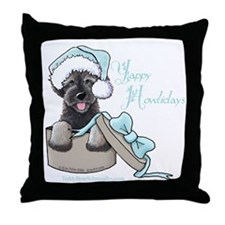 Schnoodle Howliday Throw Pillow