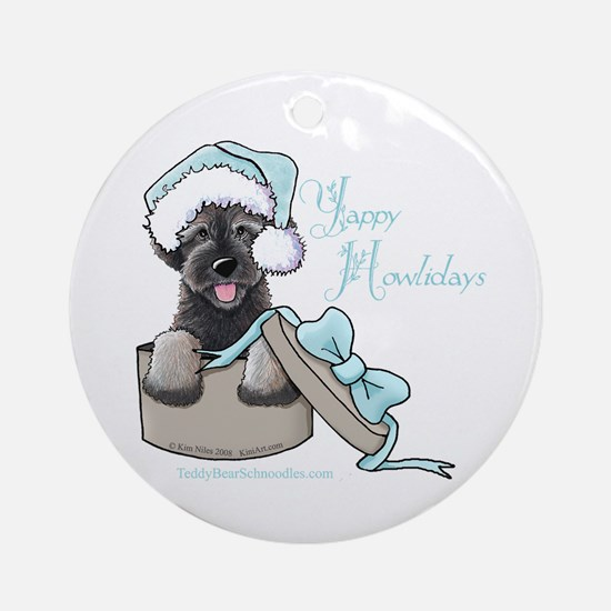 Schnoodle Howliday Ornament (Round)