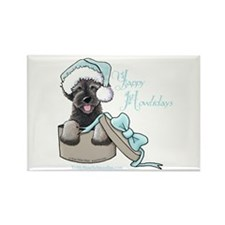 Schnoodle Howliday Rectangle Magnet
