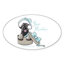Schnoodle Howliday Oval Decal