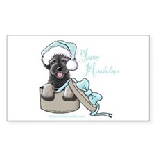 Schnoodle Howliday Rectangle Decal