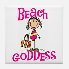 Beach Goddess Tile Coaster