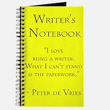 """Peter de Vries"" - Writer's Notebook"