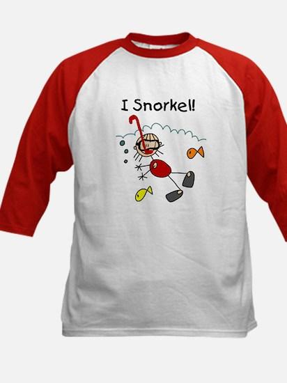 I Snorkel Kids Baseball Jersey