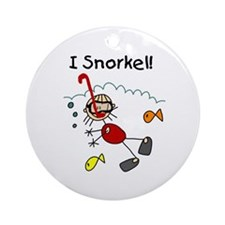 I Snorkel Ornament (Round)