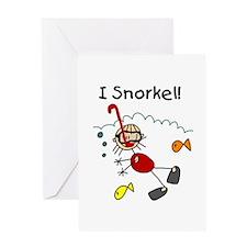 I Snorkel Greeting Card