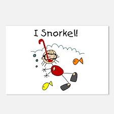 I Snorkel Postcards (Package of 8)
