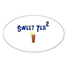 Sweet Tea Squared Oval Decal