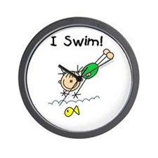 Girl I Swim Wall Clock