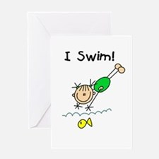 Girl I Swim Greeting Card
