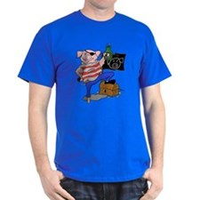 Pig Pirate Captain T-Shirt