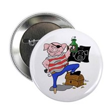 "Pig Pirate Captain 2.25"" Button"