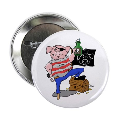 "Pig Pirate Captain 2.25"" Button (100 pack)"