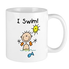 Boy I Swim Mug