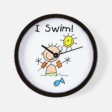 Boy I Swim Wall Clock