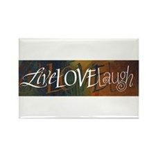 LiveLoveLaugh Rectangle Magnet
