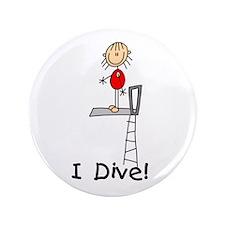 "Girl I Dive 3.5"" Button"