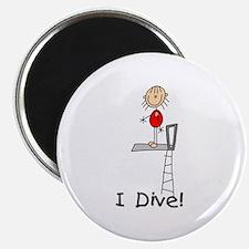 """Girl I Dive 2.25"""" Magnet (10 pack)"""