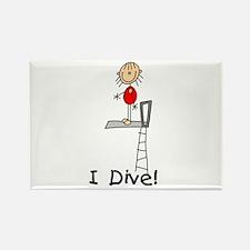Girl I Dive Rectangle Magnet