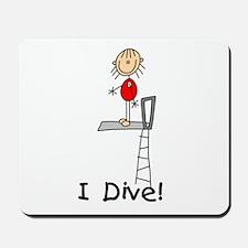 Girl I Dive Mousepad