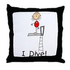 Girl I Dive Throw Pillow