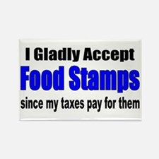 Food Stamps Rectangle Magnet