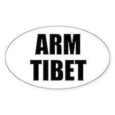 Arm Tibet oval sticker