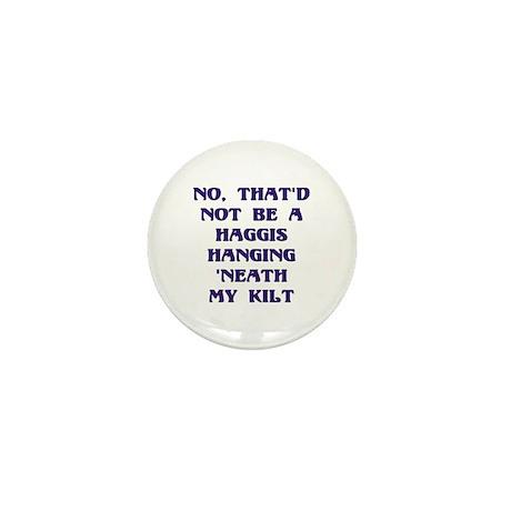 No Haggis 'neat Kilt Mini Button