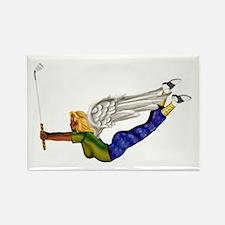 Lucky Golf Angel Rectangle Magnet