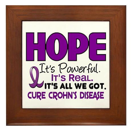 HOPE Crohn's Disease 1 Framed Tile