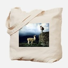 Llama Encounter Tote Bag