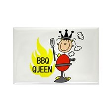 BBQ Queen Rectangle Magnet
