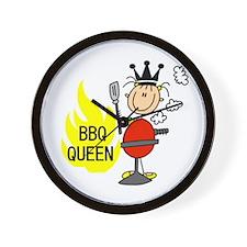 BBQ Queen Wall Clock